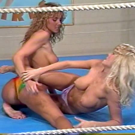 Busty women wrestling